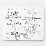 Kangaroo & Friends Colour-In Mousepads