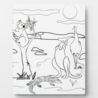 Kangaroo Friends Colour-In Photo Plaques