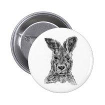 kangaroo gday mate pinback button