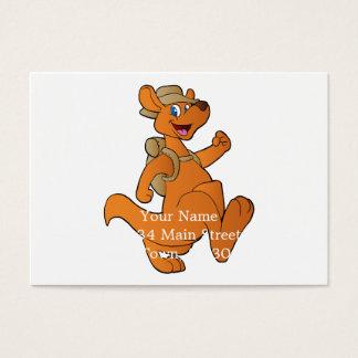 kangaroo hiker business card