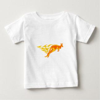 Kangaroo in Flames Baby T-Shirt