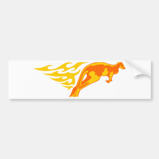 Kangaroo in Flames Bumper Sticker