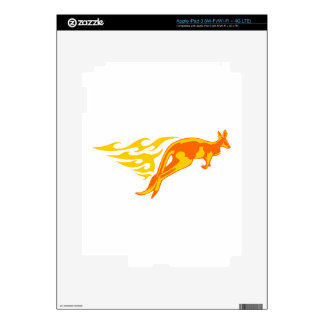 Kangaroo in Flames iPad 3 Skin