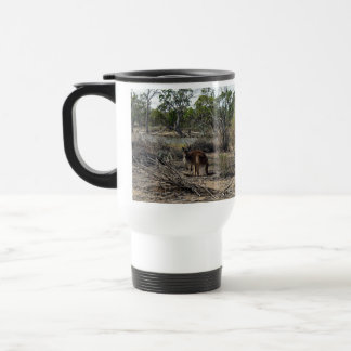 Kangaroo,_In_Outback_Australia_White_Travel_Mug Travel Mug