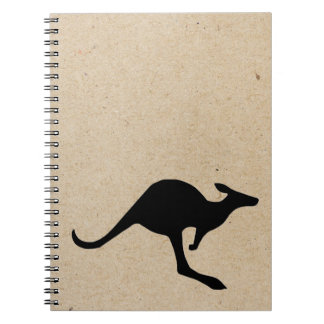 kangaroo ink stamped journal spiral notebooks