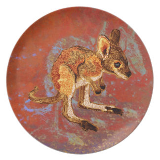 Kangaroo Joey Party Plate