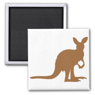 Kangaroo Kangaroos Australia Marsupial Art Animal 2 Inch Square Magnet