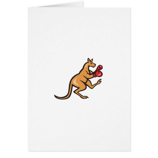 Kangaroo Kick Boxer Boxing Cartoon Cards