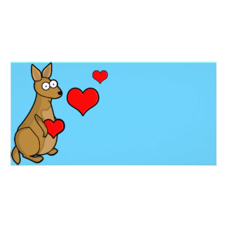 Kangaroo Love Card