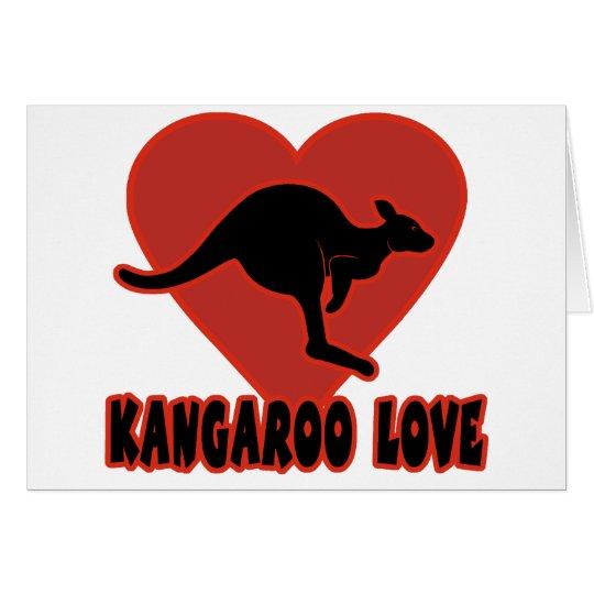 Kangaroo Love Heart Card