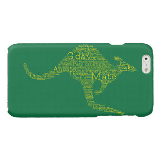 Kangaroo made of Australian slang Glossy iPhone 6 Case