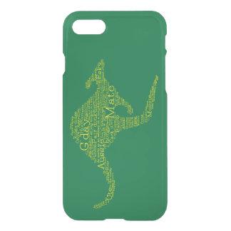 Kangaroo made of Australian slang iPhone 8/7 Case