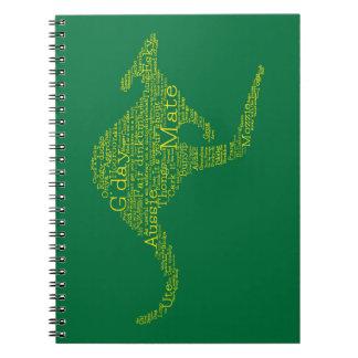 Kangaroo made of Australian slang Notebook