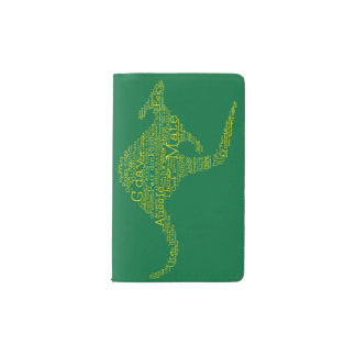 Kangaroo made of Australian slang Pocket Moleskine Notebook