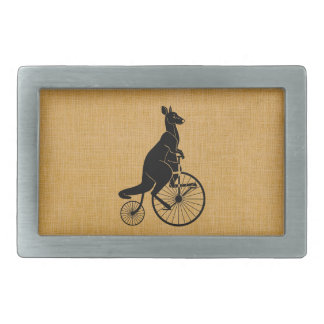 Kangaroo on Bike Belt Buckle