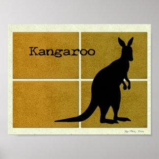 Kangaroo on Cork Poster