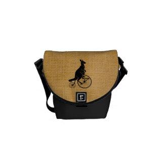 Kangaroo on Vintage Bike Messenger Bags