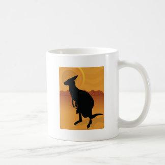 Kangaroo Outback Classic White Coffee Mug