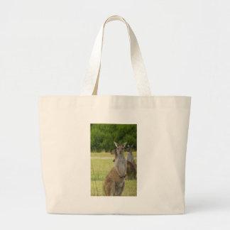 Kangaroo Paddock Large Tote Bag