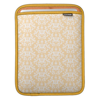 """Kangaroo Paws"" damask gold & cream ipad sleeve"