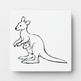 Kangaroo Photo Plaques