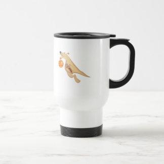 kangaroo playing basketball mugs