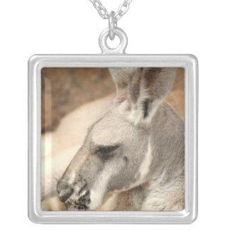 Kangaroo Profile Necklace