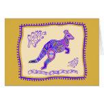 Kangaroo Quilt Card