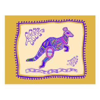 Kangaroo Quilt Postcard