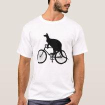 Kangaroo riding bicycle T-Shirt
