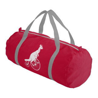 Kangaroo Riding Bike Gym Bag