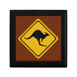 kangaroo road sign jewelry box