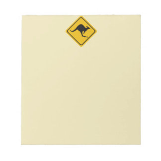 kangaroo road sign notepad