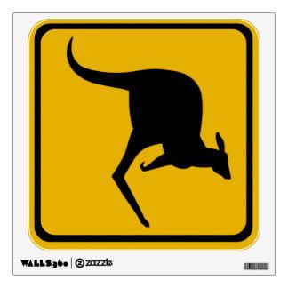 kangaroo road sign wall stickers