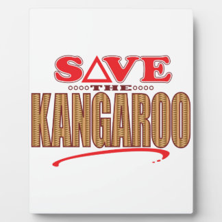 Kangaroo Save Plaque