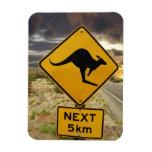 Kangaroo sign, Australia Flexible Magnets