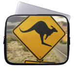 Kangaroo sign, Australia Laptop Computer Sleeve