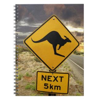 Kangaroo sign, Australia Notebook