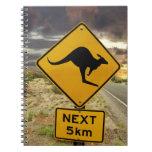 Kangaroo sign, Australia Notebooks