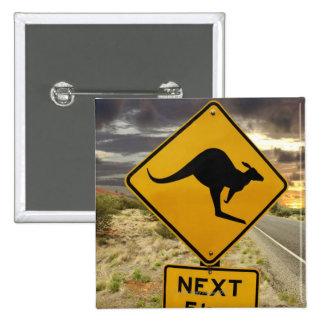 Kangaroo sign, Australia Pinback Button