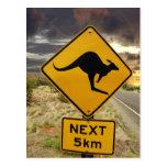 Kangaroo sign, Australia Post Cards
