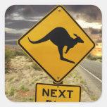 Kangaroo sign, Australia Stickers