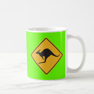 Kangaroo sign coffee mug