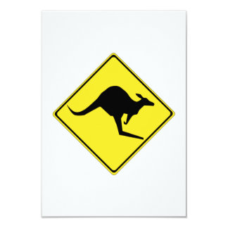 "Kangaroo Sign 3.5"" X 5"" Invitation Card"