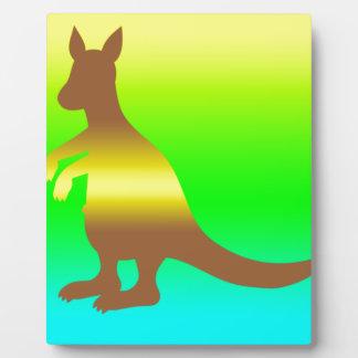 Kangaroo Silhoutte fresh yellow and green Display Plaque