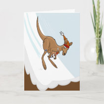Kangaroo Ski Jump Card