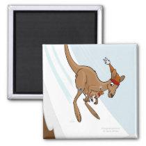 Kangaroo Ski Jump Magnet