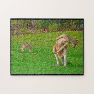 kangaroo stretch jigsaw puzzle