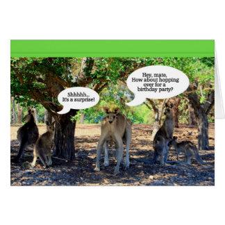 Kangaroo Surprise Birthday Party Invitation Greeting Card