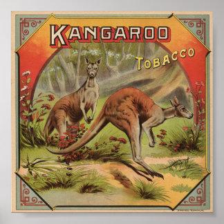 Kangaroo Tobacco 1900 Poster